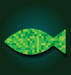 Mosaic fish vector