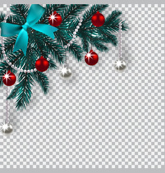 new year christmas a blue branch of a christmas vector image
