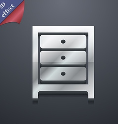 Nightstand icon symbol 3D style Trendy modern vector image