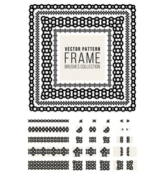 Ornamental Decorative Frame Rounded Lines vector