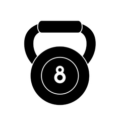 Pictograph kettlebell weight fitness gym icon vector