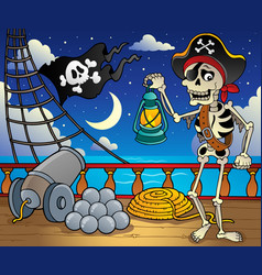 pirate ship deck theme 6 vector image