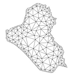 Polygonal carcass mesh map of iraq vector