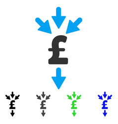 Pound combine payments flat icon vector