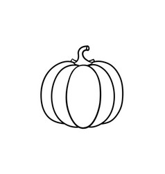 pumpkin hand drawn sketch icon vector image