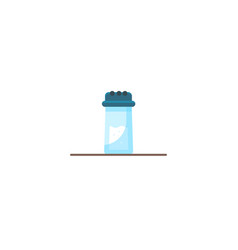 salt shaker cartoon flat icon vector image