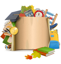 School Scroll vector