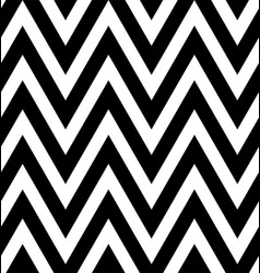seamless black and white zigzag stripes pattern vector image