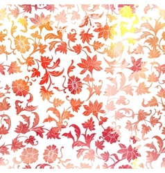 Seamless Floral Watercolor Pattern Background vector image