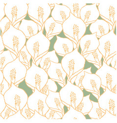 seamless pattern with spathiphyllum flowers vector image vector image