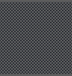Seamless wallpaper of perforated gray metal plate vector