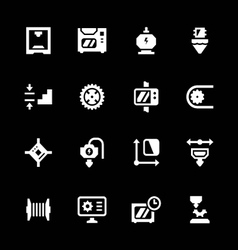 Set icons of 3D printing vector image