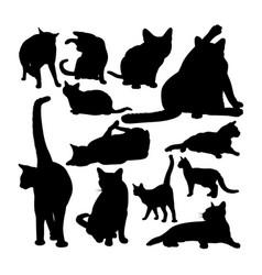 Siamese cat animal silhouettes vector