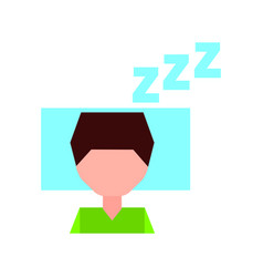 sleeping man avatar icon vector image
