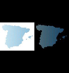 Spain map hex-tile mosaic vector