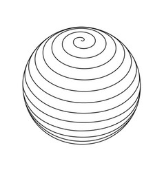 Spiral circular rotating lines wireframe sphere vector