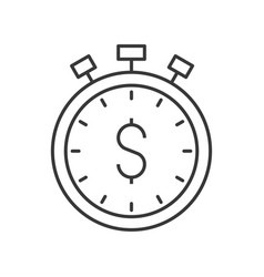 Stopwatch and dollar sign time is money concept vector