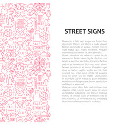 street signs line pattern concept vector image