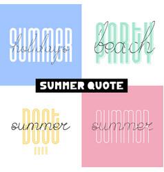 summer hand drawn brush font letterings summer vector image