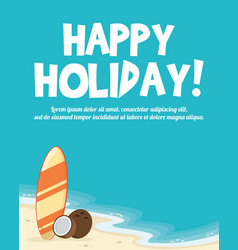 Summer holiday concept tropical vacation vector