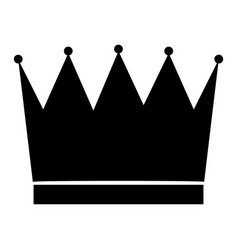 the crown black color icon vector image