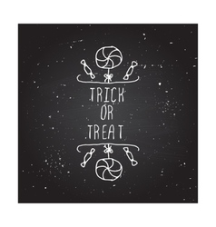 Trick or treat - typographic element vector
