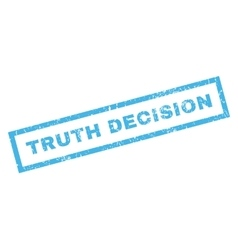 Truth Decision Rubber Stamp vector image