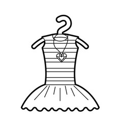 Tutu ballet and necklace on the hanger costume vector