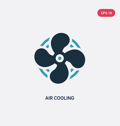Two color air cooling icon from sauna concept vector