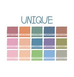 Unique Color Tone vector