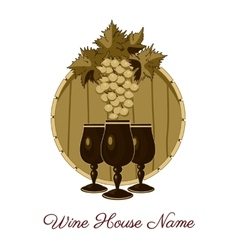 Wine house vector