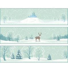 Winter Landscape Banners vector image