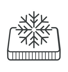 Winter side orthopedic mattress snowflake vector