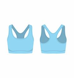 Womens blue sport bra vector