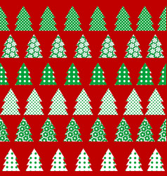 wrapping paper for christmas with christmas tree vector image