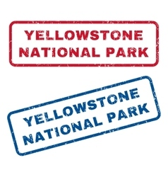 Yellowstone National Park Rubber Stamps vector