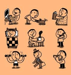 mans day cartoon vector image