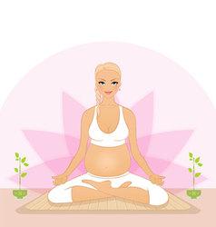 pregnant yoga vector image