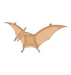 pterosaurs icon cartoon style vector image