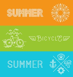 summer holidays banners vector image vector image