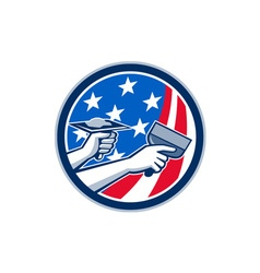 American Drywall Repair Service Flag Circle Retro vector image vector image