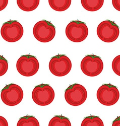 Slice tomato seamless pattern background from vector image