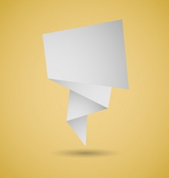 Abstract origami speech background on yellow vector image vector image