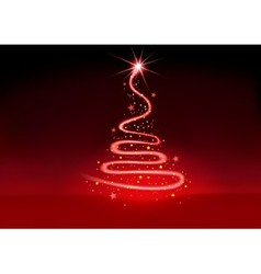 Christmas glowing spiral vector