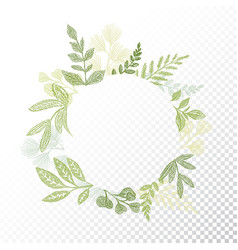 circle floral frame with branches and leaves vector image vector image