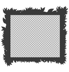 frame template with silhouette grass vector image vector image