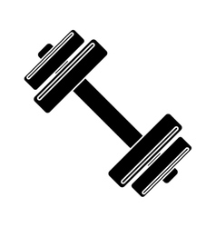 pictogram barbell fitness gym icon design vector image vector image