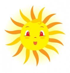 baby sun vector image vector image