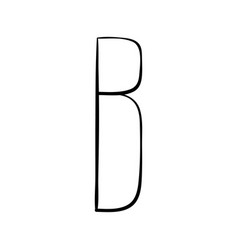 capital letter b painted by brush vector image vector image