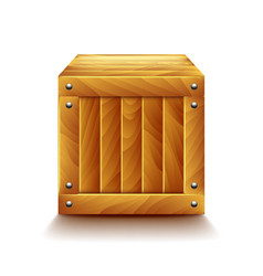 crate isolated on white vector image vector image